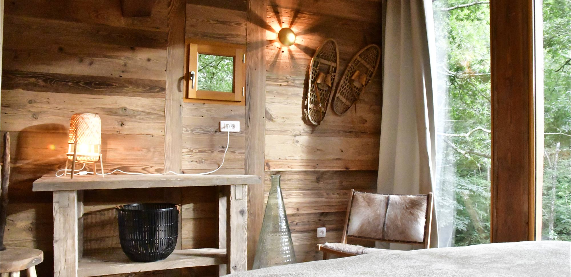 cozy cabin relaxation area natural furniture