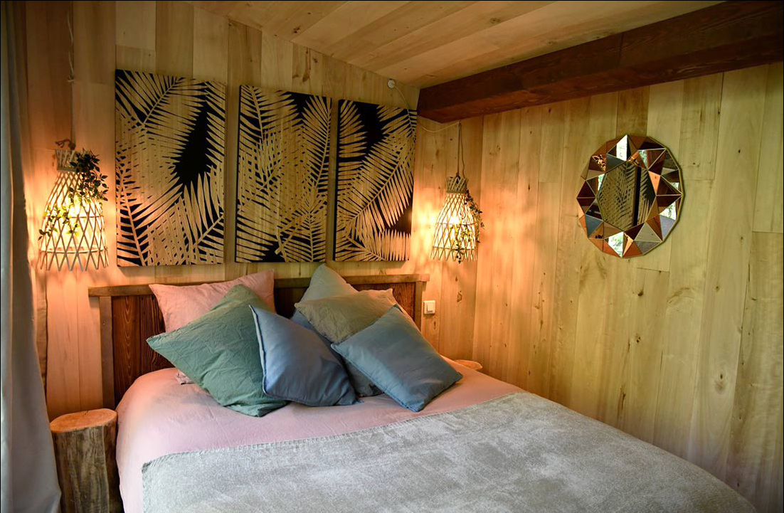 comfortable room in mountain refuge