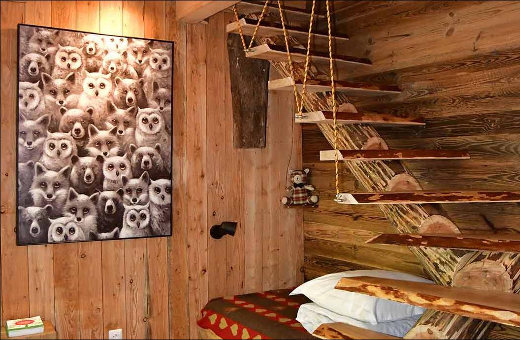 mountain hut spa perched