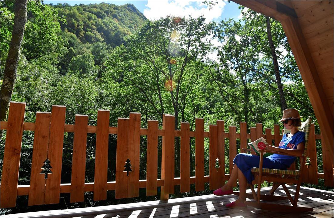 relaxation rest forest Lourdes hut